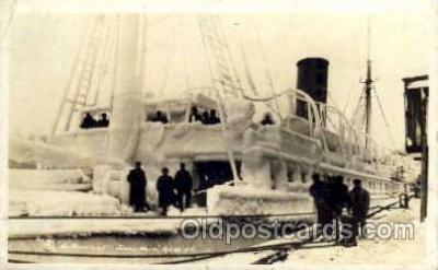 shi008154 - Real Photo, Northwestern, Juneau, Alaska, Jan 16, 1916, Steam Boat Steamer Ship Ships Postcard Postcards