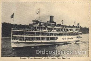 shi008158 - Peter Stuyvesant of the Hudson River New York, USA, Day Line Steam Boat Steamer Ship Ships Postcard Postcards