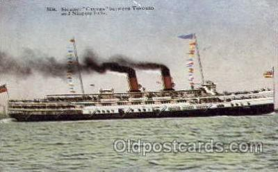 shi008161 - Cayuga between Toronto & Niagra Falls, Steam Boat Steamer Ship Ships Postcard Postcards