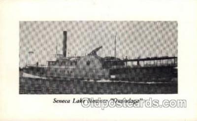 shi008163 - Senaca Lake Steamer, Onondaga Steam Boat Steamer Ship Ships Postcard Postcards