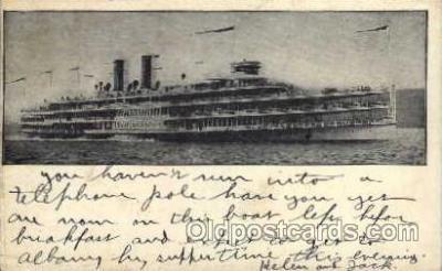 shi008166 - Hendick Hudson on The Hudson River, New York, USA Steam Boat Steamer Ship Ships Postcard Postcards