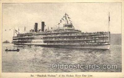 shi008176 - Hendrick Hudson on The Hudson River, New York, USA Steam Boat Steamer Ship Ships Postcard Postcards