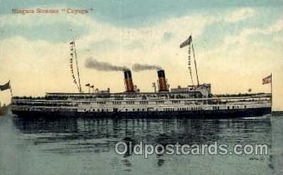 shi008179 - Niagra Steamer, Cayuga Steam Boat Steamship Ships Postcard Postcards
