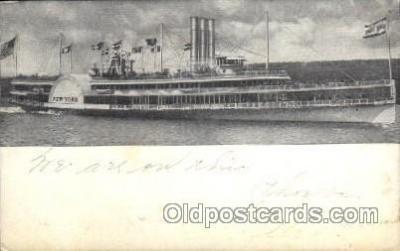 shi008200 - New York, Hudson River Day Line Steamer Ship Ships Postcard Postcards