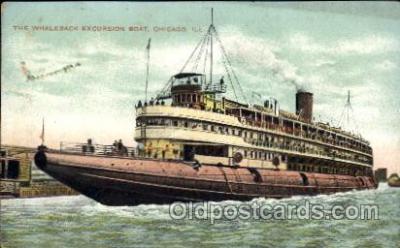shi008204 - Whaleback Excursion Boat, Chicago Illinois, USA  Steamer Ship Ships Postcard Postcards