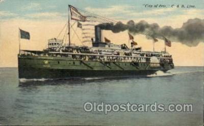shi008208 - C. & B. Line, City of Erie,  Steamer Ship Ships Postcard Postcards