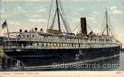 shi008211 - Arapahoe, Clyde Line, Steamer Ship Ships Postcard Postcards