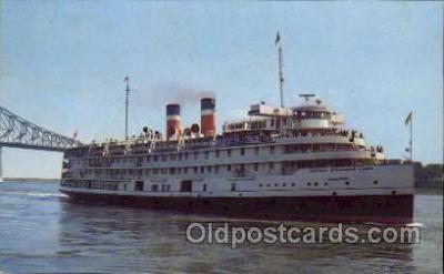 shi008213 - Saguenay Cruise Ship, Canada Steamship Lines, Steamer Ship Ships Postcard Postcards
