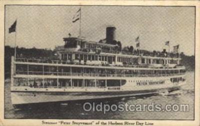 shi008230 - Peter Stuyvesant, of the Hudson River Day Line, Steamer Ship Ships Postcard Postcards