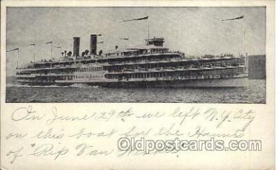 shi008235 - Hendrick Hudson, Hudson River Dayline, Steamer Ship Ships Postcard Postcards