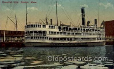 shi008237 - Hospital Ship, Boston Mass, USA, Steamer Ships Postcard Postcards
