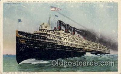 shi008252 - Steamer City of Detroit, Ill  Ship Ships Postcard Postcards