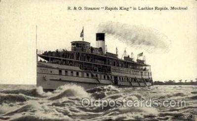 shi008254 - R & O Steamer, Rapid King, in Lachine Rapids, Montreal Canada, Ship Ships Postcard Postcards