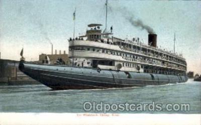 shi008255 - Whaleback, Chicago River, Steamer Ship Ships Postcard Postcards