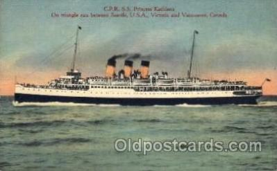 shi008277 - S.S. Princess Kathleen, on Triangle run between Seatle, USA, Victoria and Vancover, Canada, Steamer Ship Ships Postcard Postcards