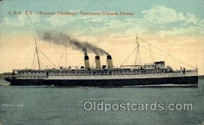 shi008279 - S.S. Princess Charlotte, Vancouver - Victoria Service, Steamer Ship Ships Postcard Postcards