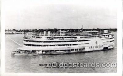 shi008284 - Steamer President at New Orleans, USA  Ship Ships Postcard Postcards