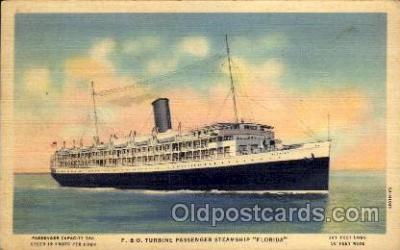 shi008293 - P.& O. Turbine Passenger Steamship Florida, Steamer Ship Ships Postcard Postcards