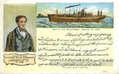 shi008299 - John Fitch, Inventor of the Steamboat, Postcard Postcards