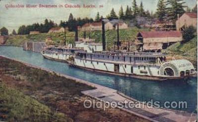 shi008314 - Columbia River Steamers in Cascade Locks, Postcard Postcards