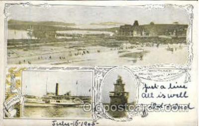shi008317 - Nantasket Showing Steamboat Landing, Postcard Postcards