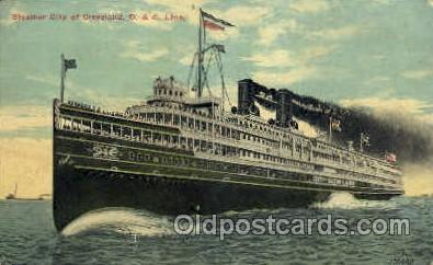 shi008319 - Steamer City of Cleveland, D. &. C. Line, Postcard Postcards