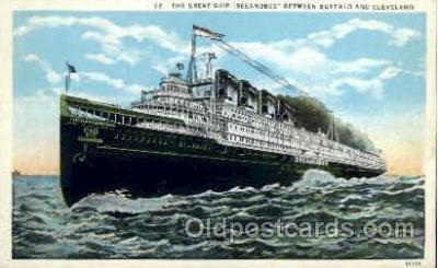 shi008320 - Seeandbee, The Cleveland & Buffalo Transit Company, Ship Ships Postcard Postcards