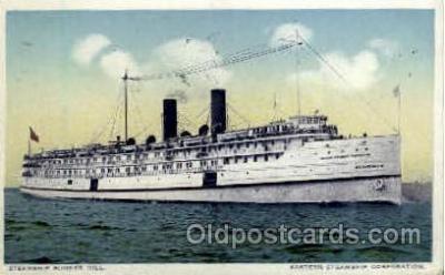 shi008324 - Steamship Bunker Hill Eastern Steamship Corporation, Postcard Postcards
