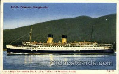 shi008327 - C.R.P. Princess Marguerite on Triangle Run between Seattle, USA, Victoria and Vancouver, Canada, Postcard Postcards