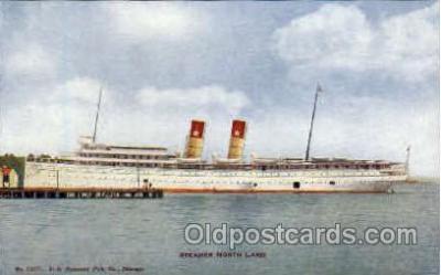 shi008348 - Steamer North Land Postcard Postcards