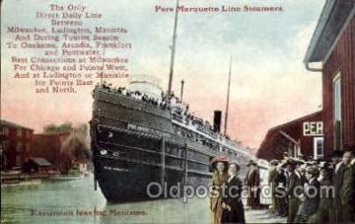 shi008351 - Pere Marquette line Steamers Postcard Postcards