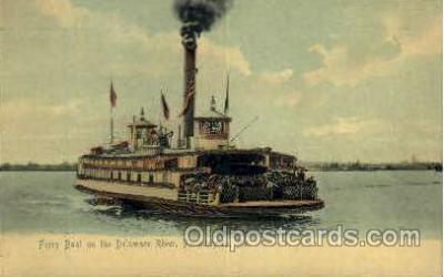 shi008370 - Ferry Boat on Delaware River, Philadelphia, PA USA