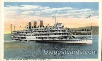 shi008385 - Steamer Washington Irving, Hudson River Day Line, Postcard Postcards
