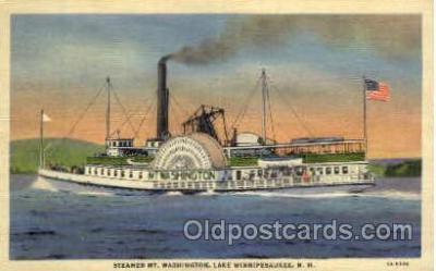 shi008386 - Steamer Mt. Washington, Lake Winnipesaukee, NH, USA Postcard Postcards
