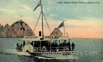 shi008390 - Glass Bottom Boat, Catalina Island, California, USA Postcard Postcards