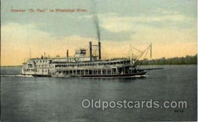 shi008395 - Steamer St. Paul on Mississippi River
