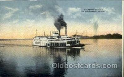 shi008406 - Steamer Quincy on Mississippi River