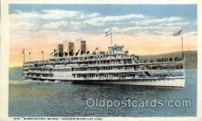shi008415 - Steamer Washington Irving, Hudson River Day Line, Albany New York USA Postcard Postcards