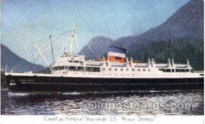 shi008439 - Canadian National Steamships, SS. Prince George Steamer Ship Postcard Postcards