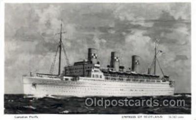 shi008444 - Empress of Scotland Steamer Ship Postcard Postcards
