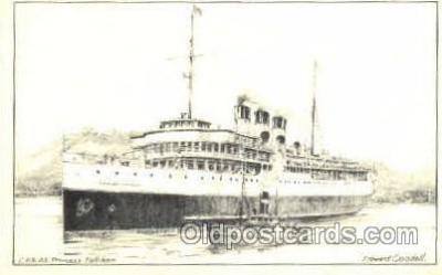 shi008447 - C.P.R. SS Princess Kathleen Steamer Ship Postcard Postcards