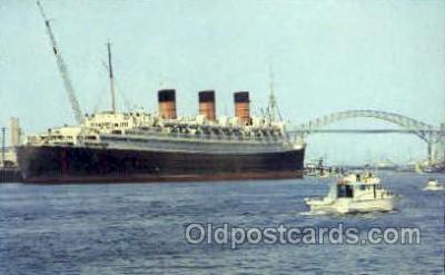 shi008459 - Long Beach Harbor, California Steamer Ship Postcard Postcards