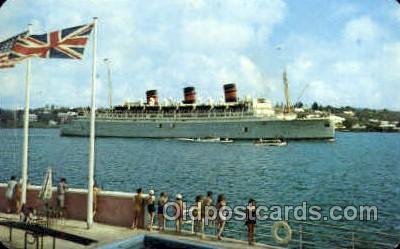 shi008460 - Queen of Bermuda Steamer Ship Postcard Postcards