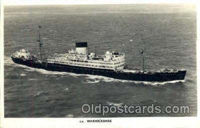 shi008462 - s.s. Warwickshire Steamer Ship Postcard Postcards