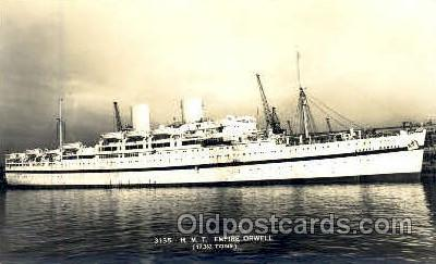 shi008463 - H.M.T. Empire Orwell Steamer Ship Postcard Postcards