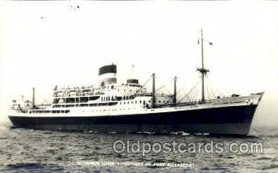 shi008472 - Ellerman Lines S.S. City Of Port Elizabeth Steamer Ship Postcard Postcards