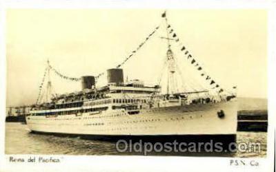 shi008480 - Reina del Pacifico Steamer Ship Postcard Postcards