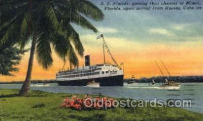 shi008482 - S.S. Florida, Miami to Cuba Steamer Ship Postcard Postcards