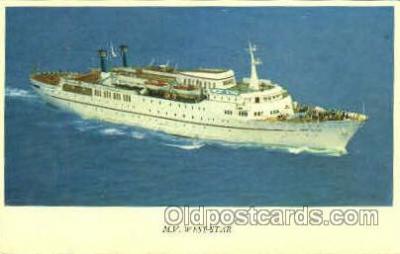 shi008509 - MV West Star Steamer Ship Postcard Postcards
