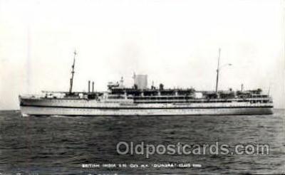 shi008515 - British India, MV Dunera Steamer Ship Postcard Postcards